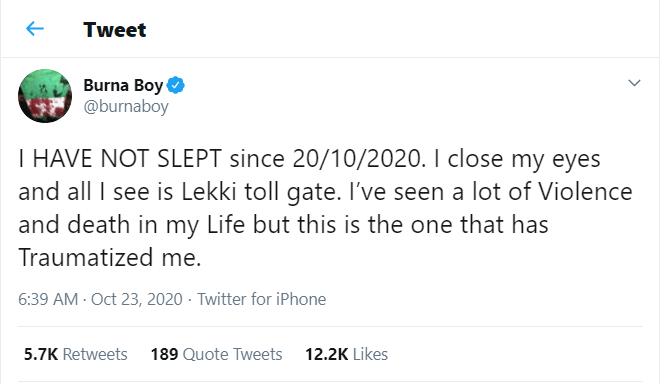 5f927f8825b47 The Lekki toll gate gun attack has left me traumatized - Burna Boy