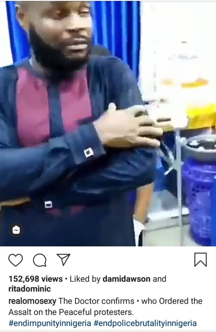 Omotola makes U-turn as she apologizes and shares video of doctor confirming someone died at the hospital from the Lekki toll gate shooting