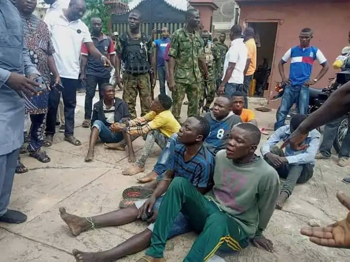 Seven arrested for invading Senator