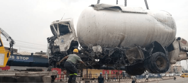 Man dies in accident involving a loaded gas tanker and an empty tanker