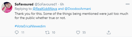 Kiddwaya and family member clash on Twitter