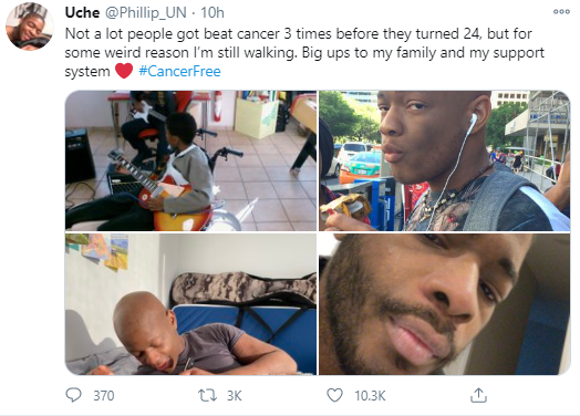 Man who survived cancer 3 times before turning 24 shares story as he celebrates being cancer free