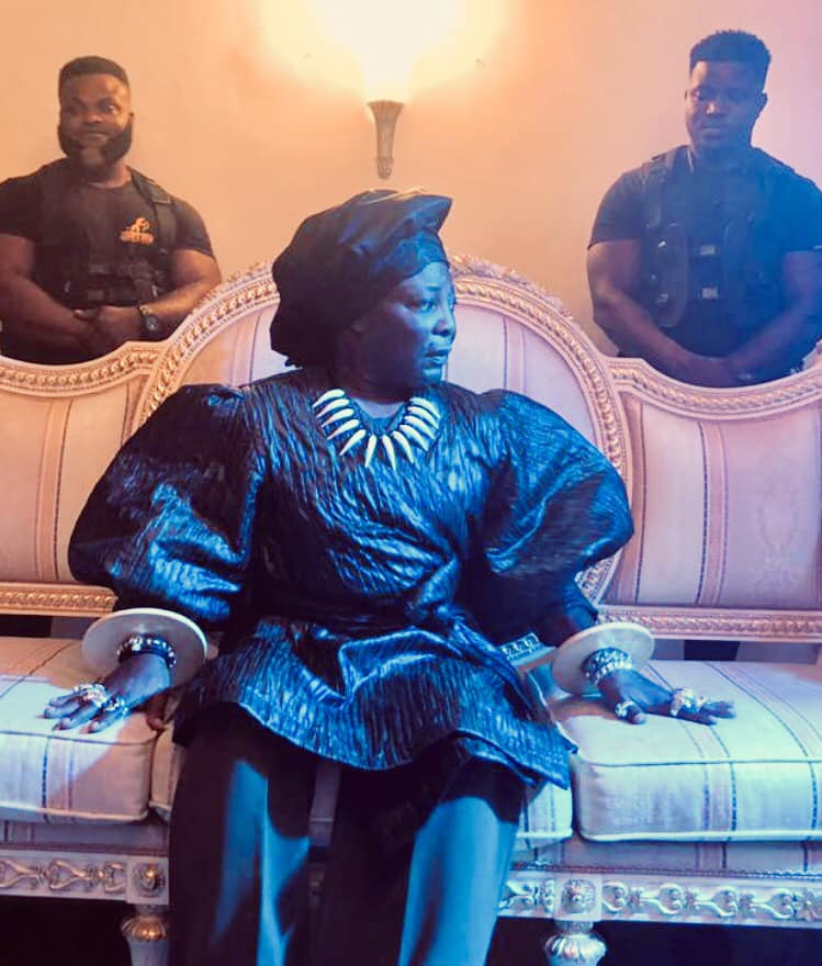 Charley Boy switches up his look with feminine blouse, gele, and elaborate bangles (photos)