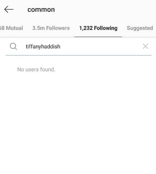 Common unfollows his girlfriend Tiffany Haddish on Instagram; sparks breakup rumors