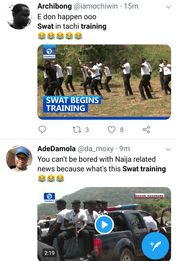 SWAT commences training in Nasarawa; Nigerians react (video)