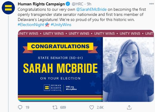 Sarah McBride entre dans l'histoire en tant que première femme transgenre à devenir sénateur aux États-Unis