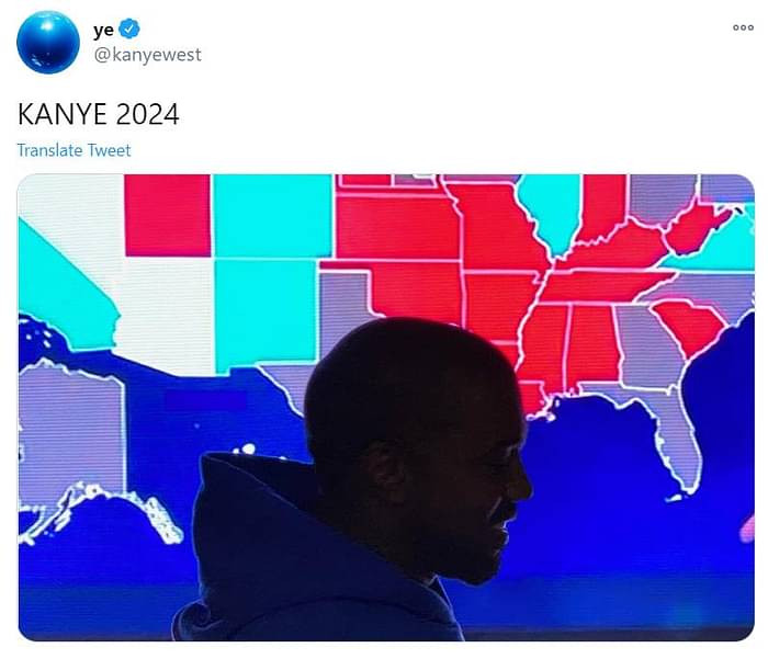 Kanye West concedes defeat in US presidential election after getting only 57,000 votes in 12 states; vows to run in 2024