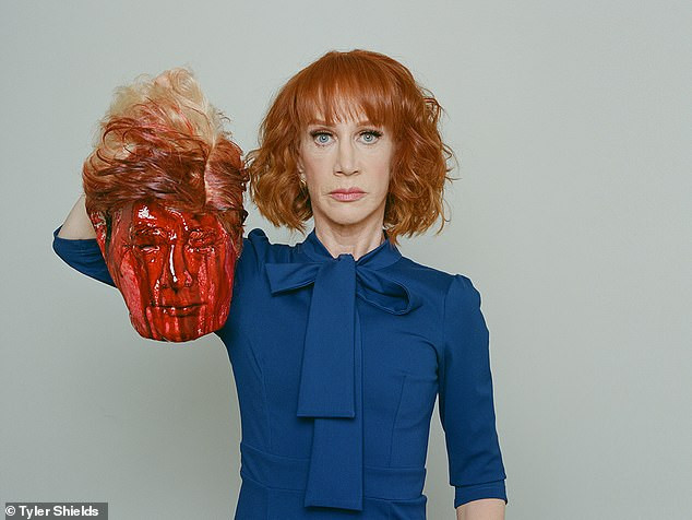 Kathy Griffin re-tweets her controversial Donald Trump severed head photo that got her fired from CNN after the president claimed victory in election