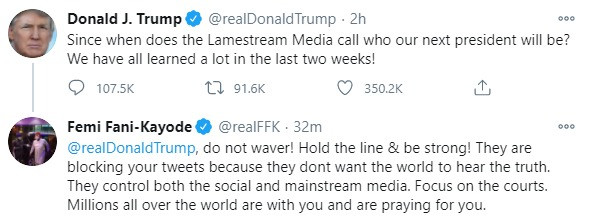 """""""Since when does the Lamestream Media call who our next president will be"""