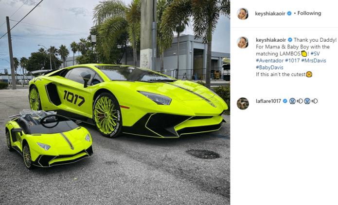 Rapper, Gucci Mane buys matching Lamborghinis for his pregnant wife Keyshia Ka?oir and their unborn son (Photos)