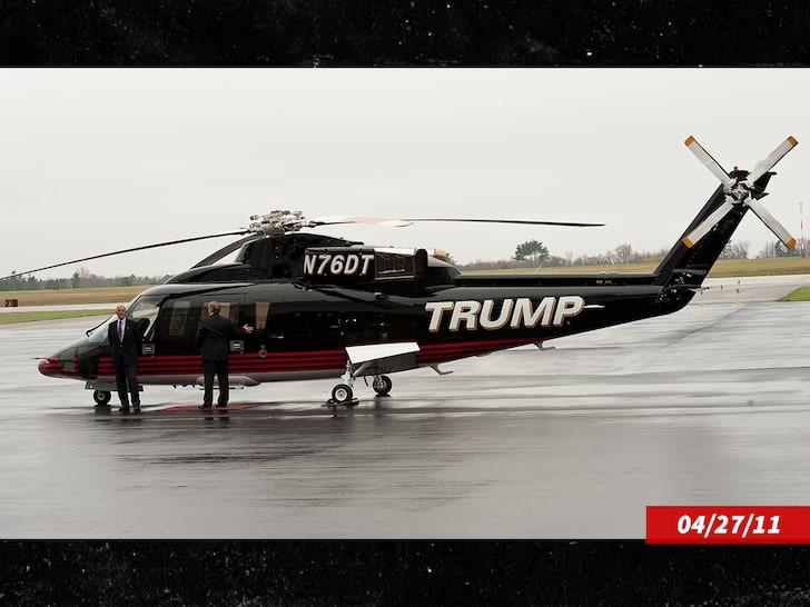 Donald Trump met son hélicoptère personnel en vente (photos)
