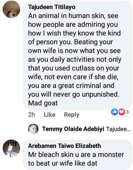 """""""Monster, animal, ugly bleached face""""-Angry Nigerians drag man who allegedly attacked his wife with cutlass and threatened to kill her and their children if she exposes him"""