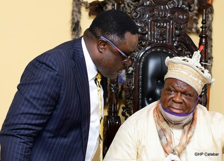 """""""You are our son. We love you"""" - Obong of Calabar makes a U-turn, declares full support for Governor Ayade after asking him to step aside"""