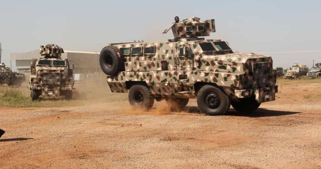 Nigerian Army inducts eight locally made combat vehicles