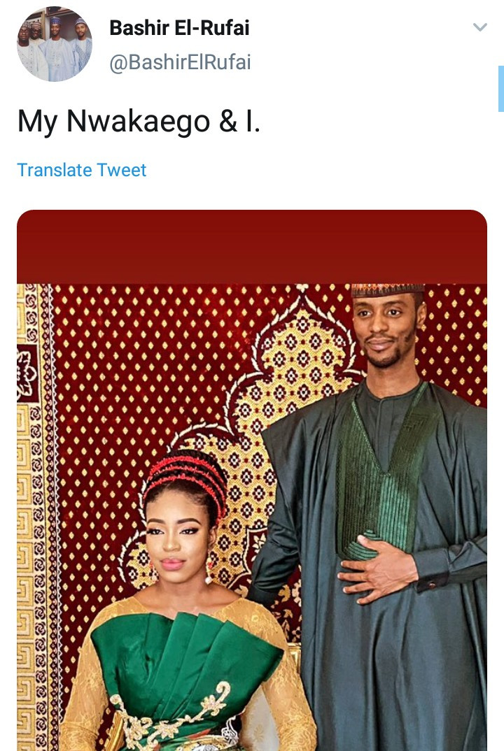 Bashir El-rufai releases pre-wedding photos with his bride-to-be named