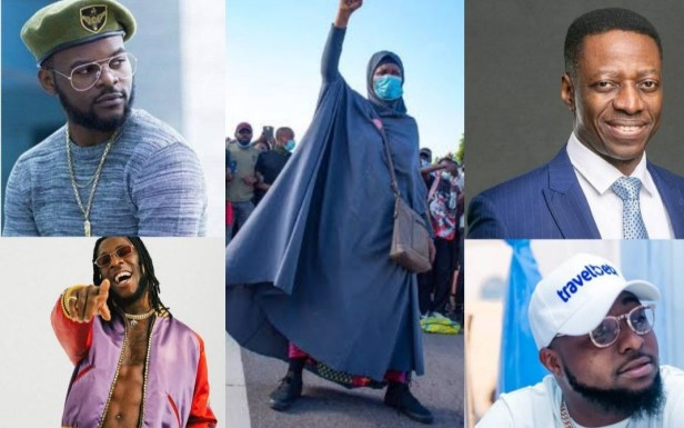 #EndSARS Protest: Court orders police to probe Pastor Sam Adeyemi, Davido, Burna Boy, Falz, Don Jazzy, Peter Okoye and others