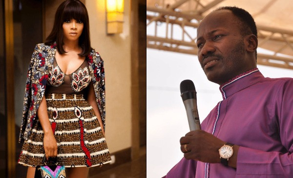 Toke Makinwa shades Apostle Suleman over testimony of his spiritual son who