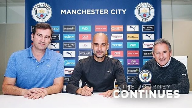 ?Pep Guardiola agrees on a two-year contract at Manchester City until 2023