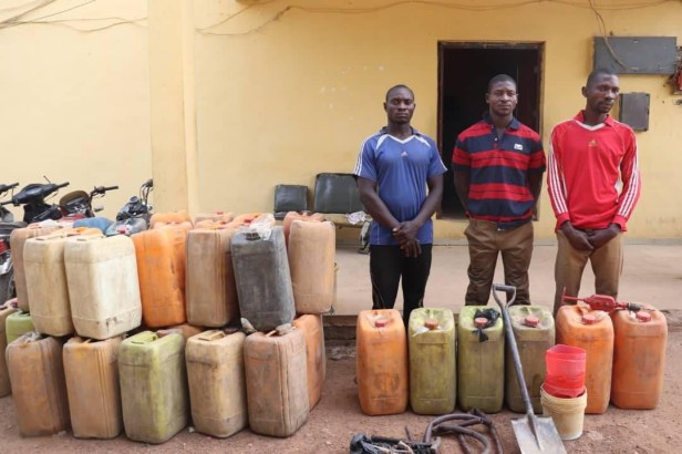Police arrest three suspected pipeline vandals in Niger state