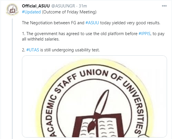 FG has agreed to use old platform before IPPIS to pay all withheld salaries - ASUU