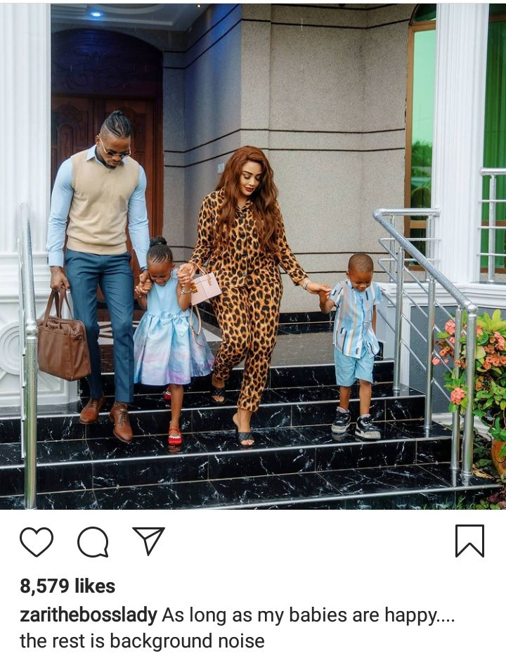 """""""As long as my babies are happy, the rest is background noise"""" Zari says as she"""