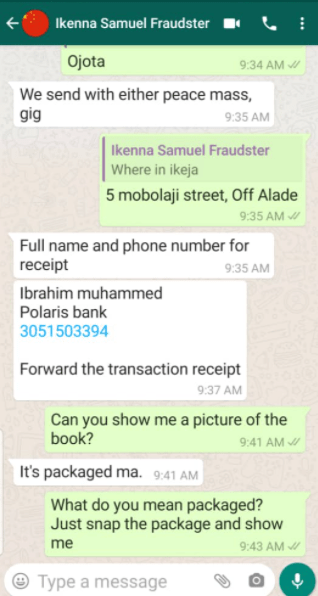 Author, Odega Shawa nabs fraudster trying to defraud book readers on social media