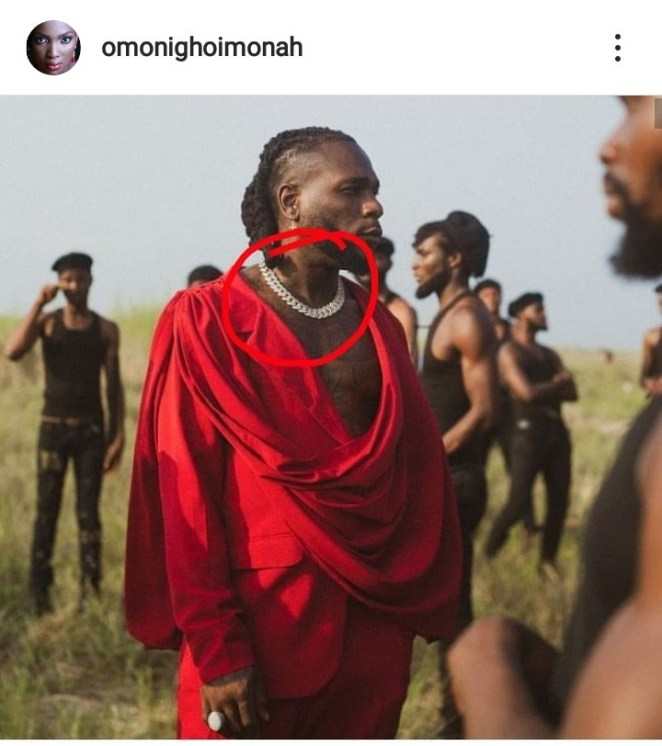 Fashion illustrator, Omonigho accuses Burna Boy