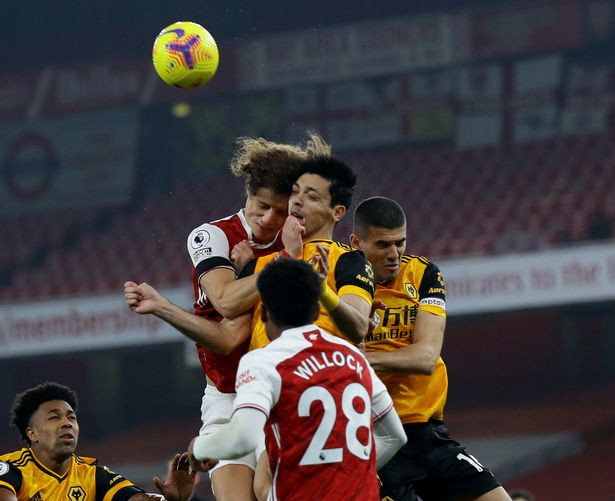 Wolves striker, Raul Jimenez suffers fractured skull after head clash with David Luis in Arsenal game; undergoes surgery