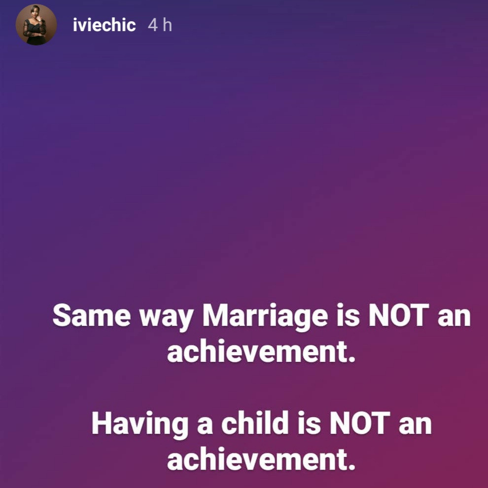 Same way marriage is not an achievement, having a child is not an achievement- Tee-Y Mix