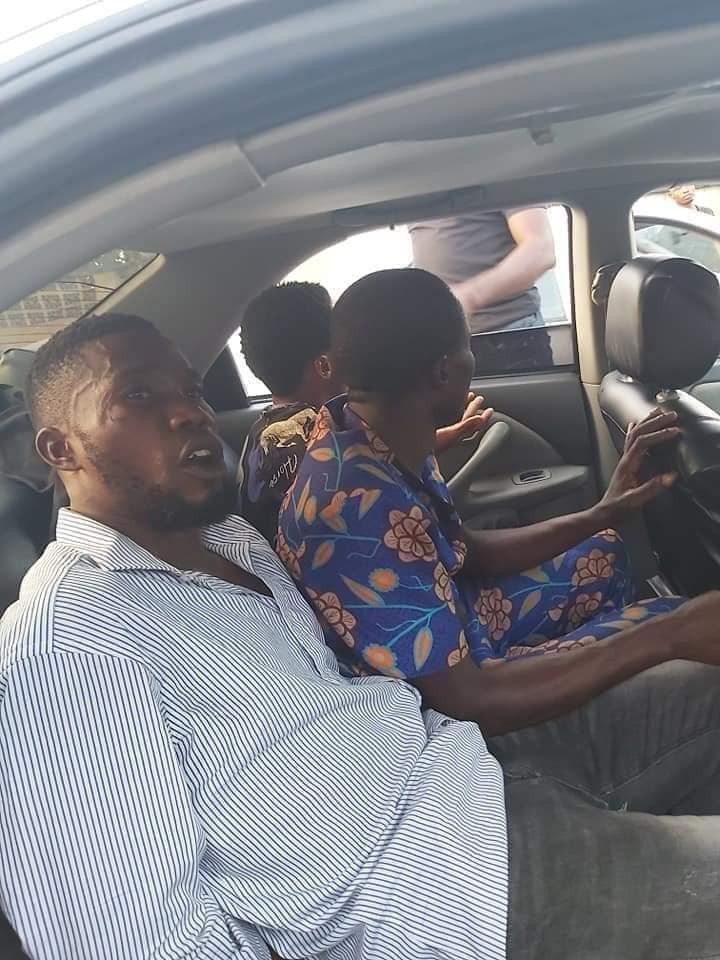 Three members of a notorious car snatching syndicate nabbed in Akwa Ibom (photos)