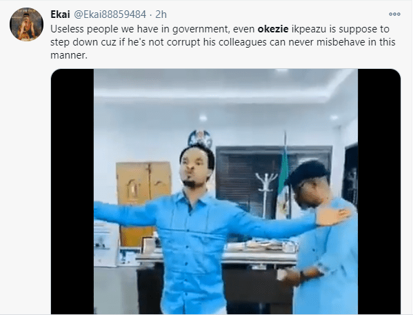 Nigerians react to Governor Okezie suspending his CoS for spraying money on clergyman, Chukwuemeka Odumeje