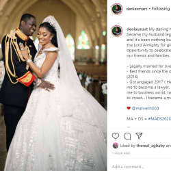 Last year, you legally became my husband-Deola Smart splashes about her husband Malivelihood
