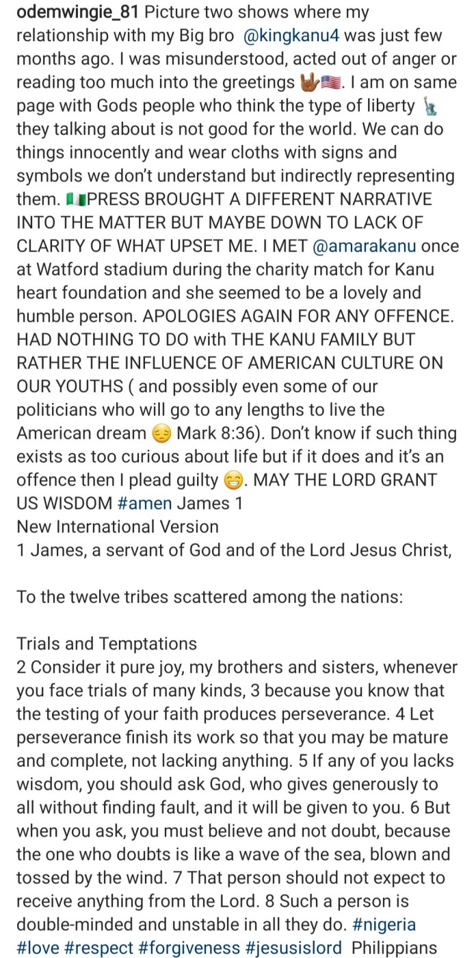 """""""I read too much into the greetings"""" Odemwingie apologises to Kanu and family"""