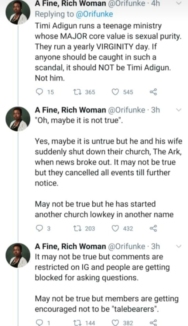 """""""I was involved in inappropriate behaviour with females"""" - Pastor Timi Adigun of MINE Teens Ministry admits and apologizes after being accused of sexually molesting teenagers"""