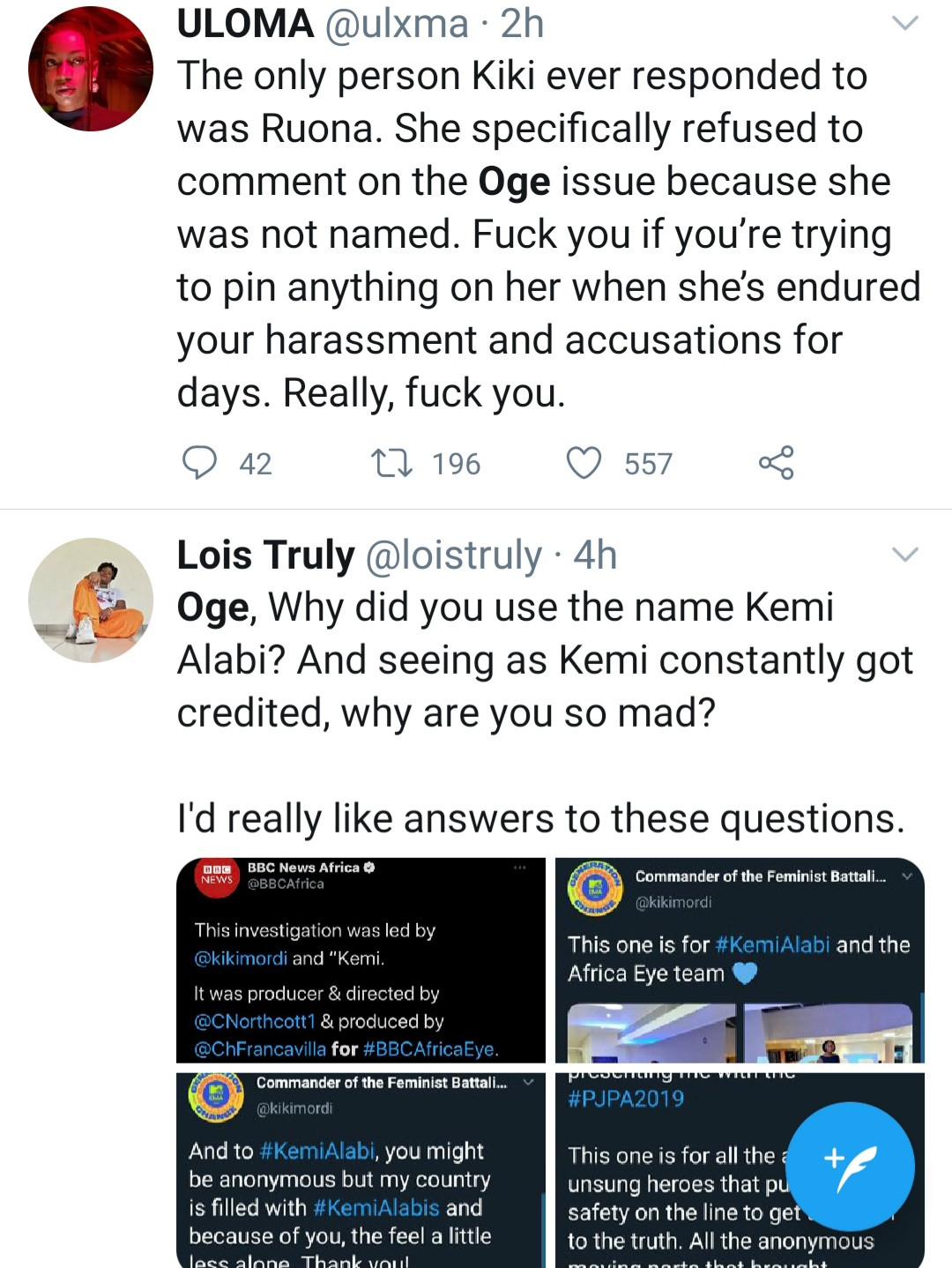 Ogechi Obi reportedly attempts suicide after claiming she did most of the work for the BBC Sex For Grade documentary while Kiki Mordi took all the credit (video)
