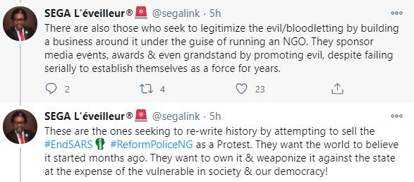 Lekki shooting: Nigerians reacts to Segalink
