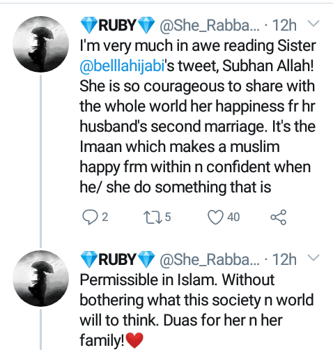 """May Allah protect us from jealousy and the evil eye"" - Woman celebrates as her husband marries a second wife"