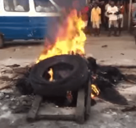 For Raping A Pregnant Woman, Mob Sets Two Suspected Robbers Ablaze In Delta
