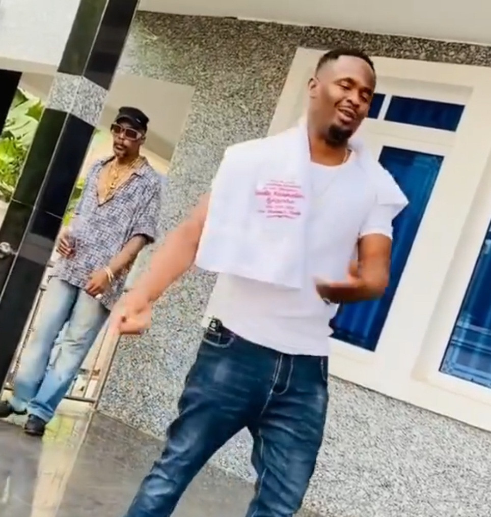 Nollywood actor Hanks Anuku goofs around with Zubby Michael in new video