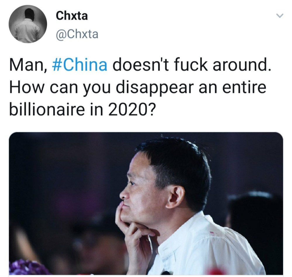 Chinese billionaire Jack Ma suspected missing as he