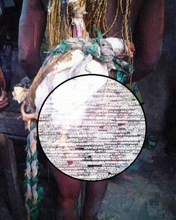 Young lady is stripped naked and paraded in the village for allegedly stealing a fowl in Akwa Ibom (photos)