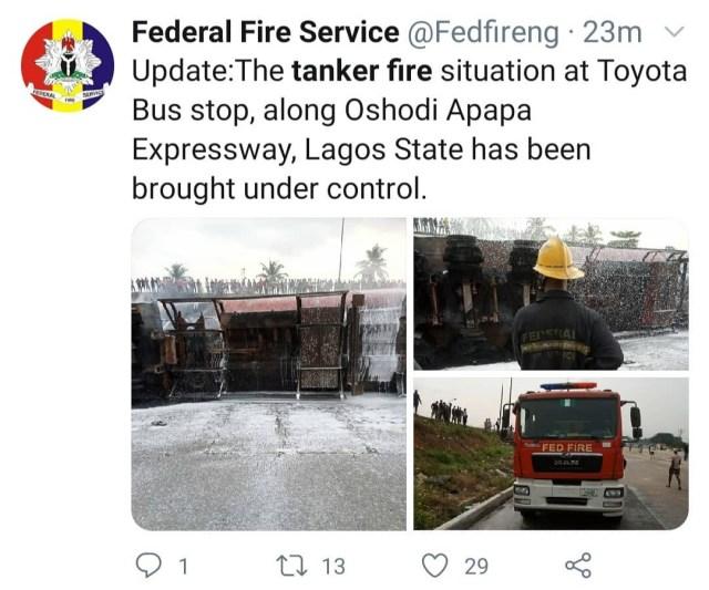 Oil tanker explodes in Lagos (photos/video)