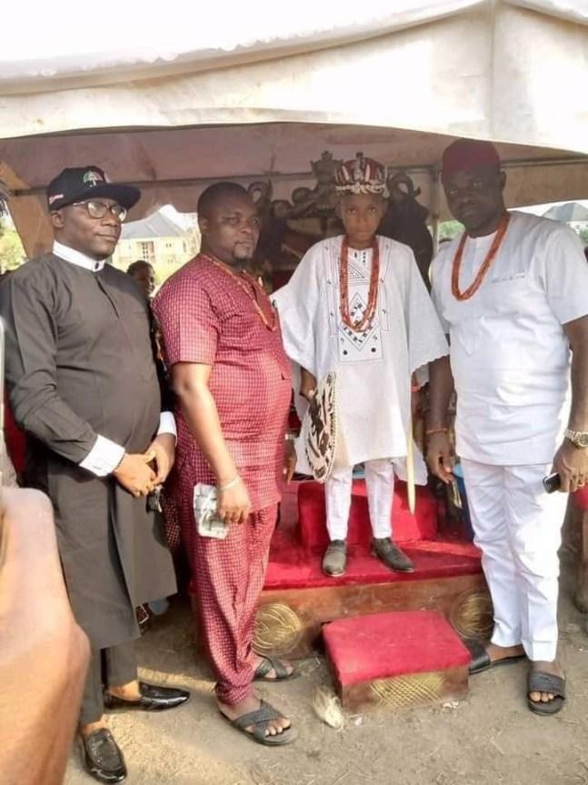 Meet 10-Year-Old Akubuisi Okonkwo Crowned Youngest King In Nigeria