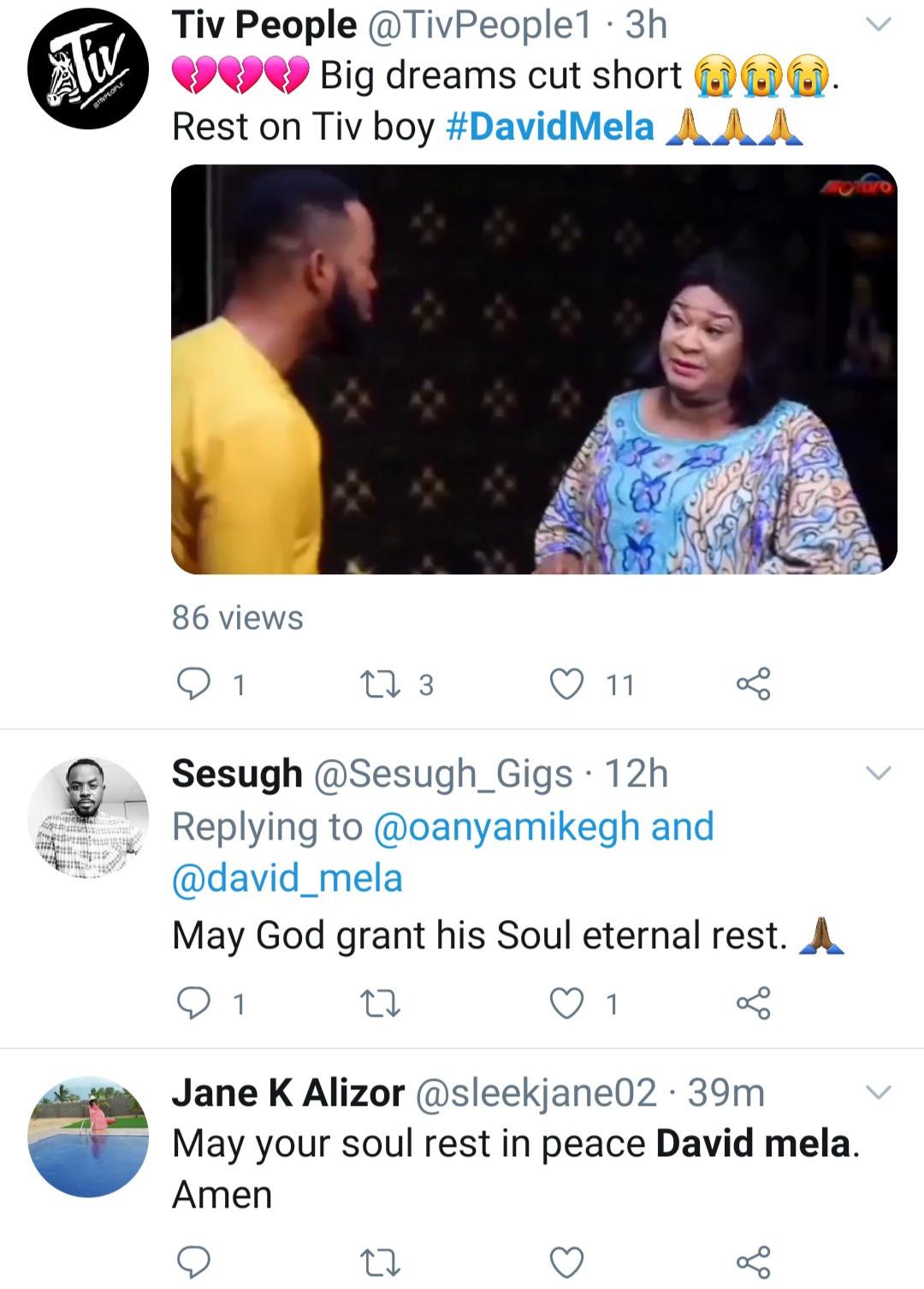 Nollywood actor David Mela dies