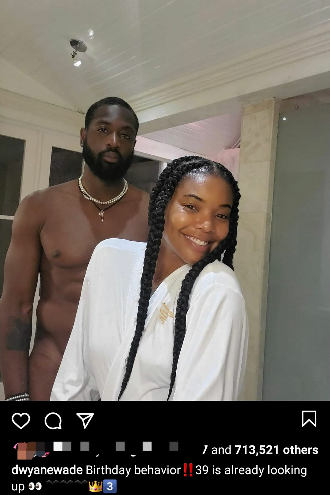 Dwyane Wade strips down to end his birthday celebrations