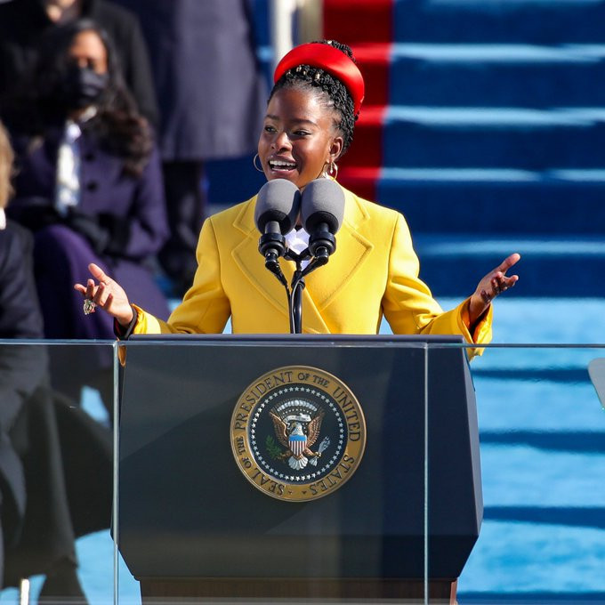 22-year-old Amanda Gorman becomes youngest poet in US history to read at presidential inauguration (video)