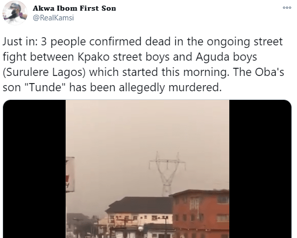 At least one dead as youths clash in Aguda, Surulere; police arrest suspects