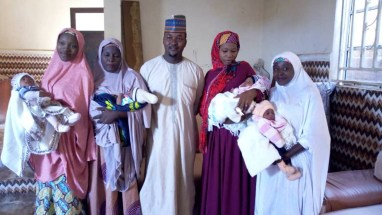 """I am so proud of this achievement"" - 36-year-old Bauchi carpenter becomes father of 13 children as his four wives give birth within 3 weeks"