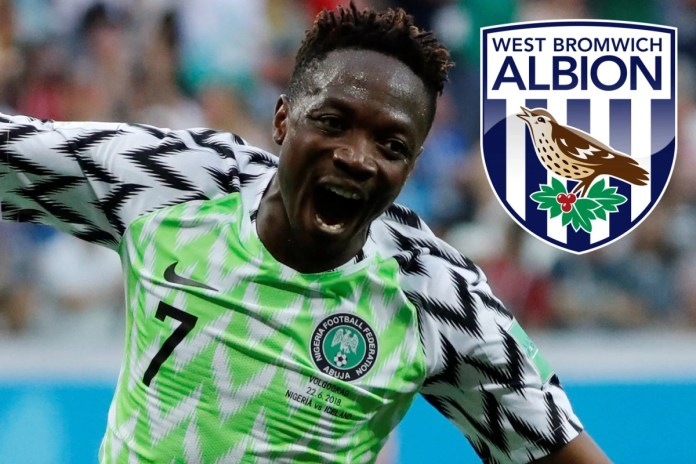 Nigeria captain Ahmed Musa set to return to Premier League with West Brom