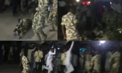 Soldiers celebrate over Buratai's removal as Chief of Army Staff (video)